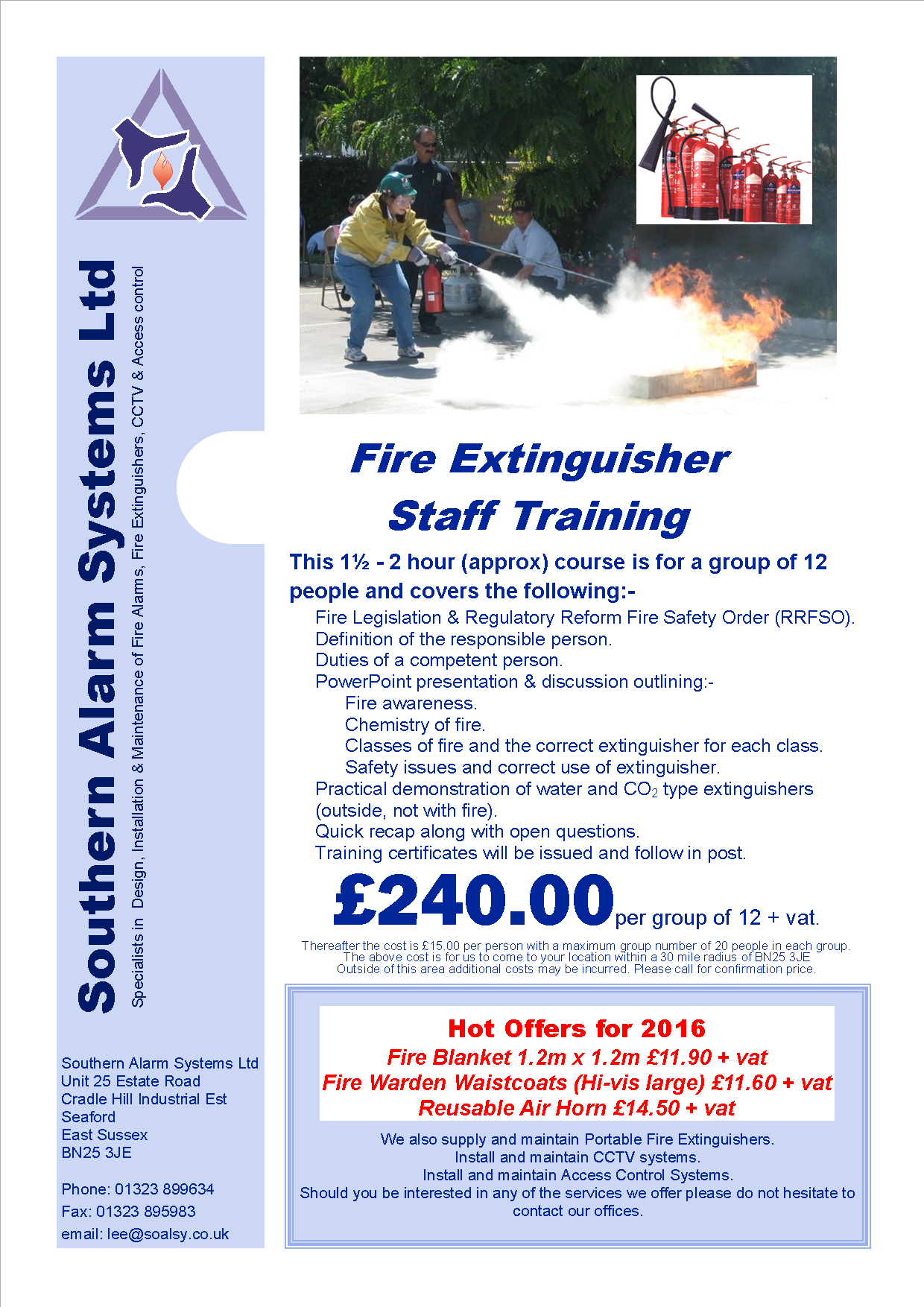 Cctv Southern Alarm Systems Ltd Wiring Diagram Pdf Small Image Of Fire Training Flyer